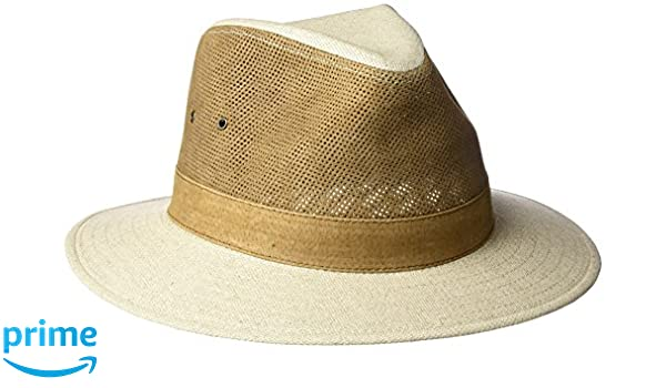 09c8b9a9b38 Tommy Bahama Men s Perforated Leather Safari Hat