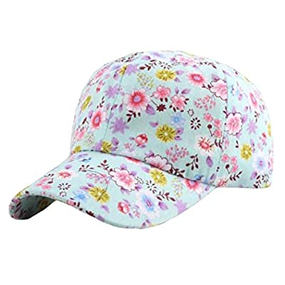 Boomboom Baseball Caps, 2018 Women Baseball Cap Adjustable Flowers Snapback for Teen Girls