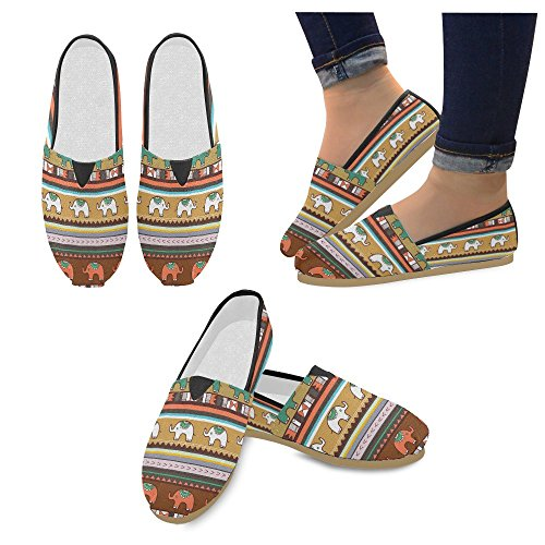 D-histoire Mode Sneakers Flats Mer Vague Femmes Classique Slip-on Chaussures Chaussures Mocassins Multi4