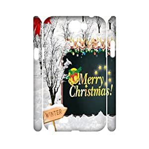 Samsung Galaxy Note 2 N7100 3D Custom Phone Back Case with Christmas theme Image