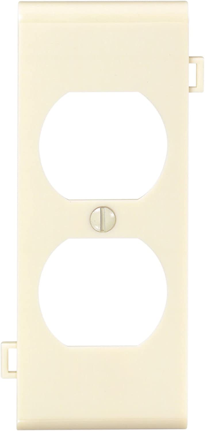 Leviton PSC8-I 1-Gang Duplex Device Receptacle Wallplate, Sectional, Thermoplastic Nylon, Device Mount, Center Panel, Ivory