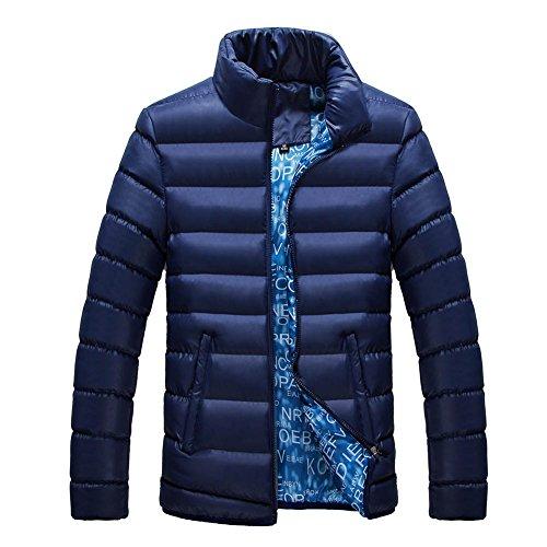 Manches Léger Chaud Blouson Fermeture Manteau Automne Parka Fit Bleu Longues Eclair Doudoune Classique Homme Bold Veste Hiver Ordinaire Manner vX7XZt