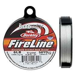 Fireline XCR-1278 Crystal Braided Beading Thread, .008\