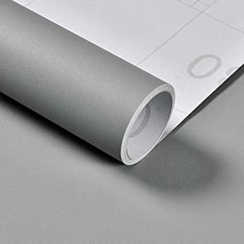 Grey Self Adhesive Wallpaper Furniture Stickers Sticky Back Plastic Peel And Stick Removable Vinyl Film For Walls Shelf Liner Table Door Living Room Easy To Apply 40cm X 300cm Amazon Co Uk Diy