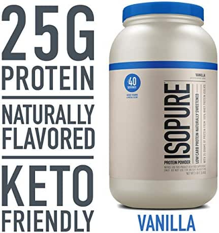 Isopure Whey Protein Isolate Naturally Flavored