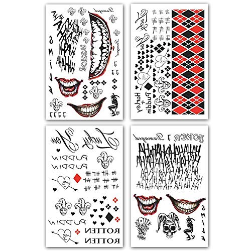 18a14f326 Kotbs 4 Sheets Large Temporary Tattoo Full Body Cosplay Temporary Tattoo  Sticker Costume Cosplay Party Accessories