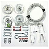 Extension Spring Pulley and Safety Cable Kit Containment and Sheave Garage Door