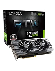 EVGA GeForce GTX 1080 FTW GAMING ACX 3.0, 8GB GDDR5X, RGB LED...