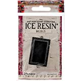 Ice Resin IRB50773 Milan Bezels Closed Back Rectangle Medium-Antique Silver