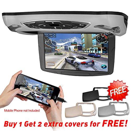 "XTRONS HD 10.1"" Roof Flip Down Monitor Car Overhead USB SD C"