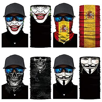 84acfb60a43 HEROBIKER 4PCS Neck Gaiter Headwear Headwrap Headband Fishing Hiking  Hunting Motorcycle Running