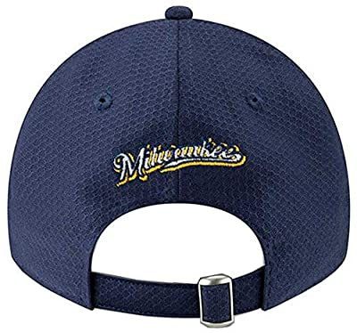 New Era 2019 MLB Milwaukee Brewers Baseball Cap Hat ALT2 Bat Practice 9Twenty Navy/Gold
