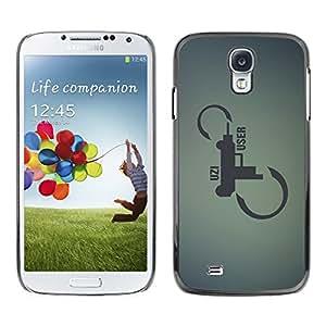 QCASE / Samsung Galaxy S4 I9500 / pistola revólver escopeta cotización del arte infinito / Delgado Negro Plástico caso cubierta Shell Armor Funda Case Cover