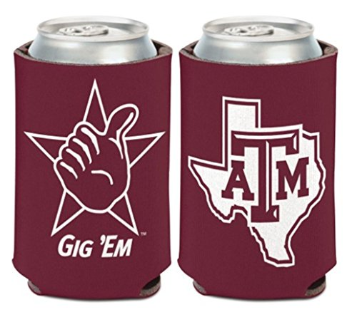 (WinCraft NCAA Texas A&M University Aggies 1 Pack 12 oz. 2-Sided Can Cooler )