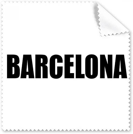 Barcelona España City Nombre Gafas Ropa de Limpieza Limpiador de Pantalla Teléfono 5pcs Regalo: Amazon.es: Electrónica
