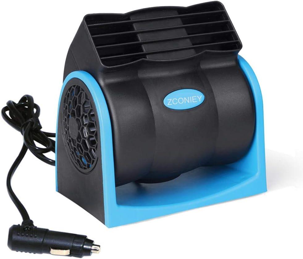 CONIE Electric Car Fan 12V Cooling Air Circulator with Cigarette Lighter Plug for Car SUV Truck Sedan