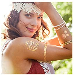 Bride & Bachelorette Party Tattoos 50+ Premium Designs 5 Sheets of Temporary Tattoos