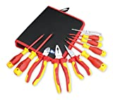 1000v insulated tool sets - BOOHER 0200101 10-Piece 1000V Insulated Electrician's Tool Set