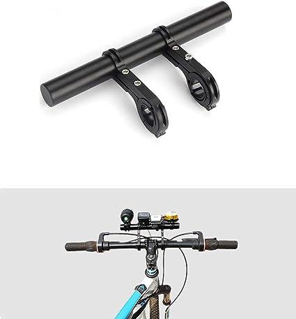 jiele Bike Handlebar Extender Aluminum Alloy Bracket Extension Saver Handlebar Extender Accessories for GPS Phone Mounts Brackets with Double Clamps Lights