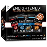 Enlightened Plant Protein Gluten Free Roasted Broad (Fava) Bean Snack, Variety Pack, 1.0 oz, 24 Count
