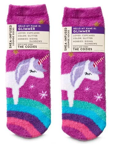 Bath and Body Works 2 Pack Glimmer the Unicorn Shea-Infused Lounge Socks. by Bath & Body Works
