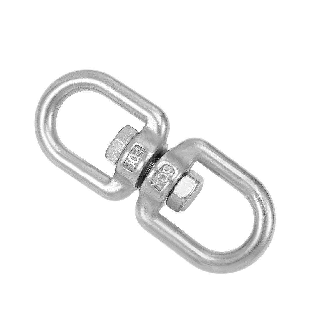 uxcell Marine Mooring Stainless Steel 4mm 5//32 inches Eye to Eye Swivel Ring