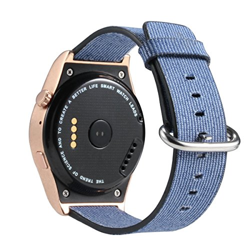 Amazon.com: Sainte Lorande Bluetooth Smart Watch with Camera round screen Fitness Tracker Watch Heart Rate Monitor iOS and Android (Gold): Cell Phones & ...