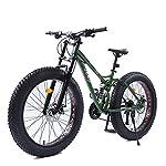51KJlsfz8zL. SS150 NENGGE 26 Pollici Donna Mountain Bike, Fat Bike da Montagna, Bicicletta Hardtail, Telaio in Acciaio ad Alto Tenore di…