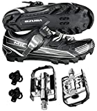 Venzo Mountain Bike Bicycle Compatible with Shimano SPD Buckle Shoes with Wellgo Pedals 43