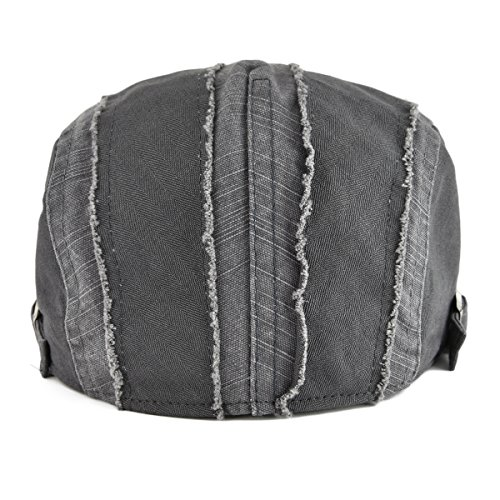 VOBOOM 100% Cotton Distressed Ivy Caps Newsboy Caps Cabbie Hat Gatsby Hat c56bc981700d