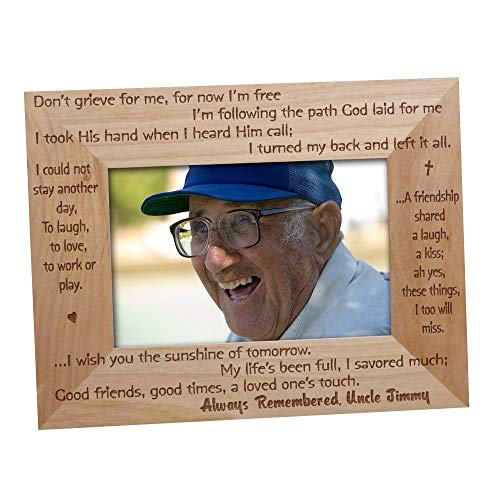 GiftsForYouNow Always Remembered Memorial Wood Picture Frame, Holds a 3.5