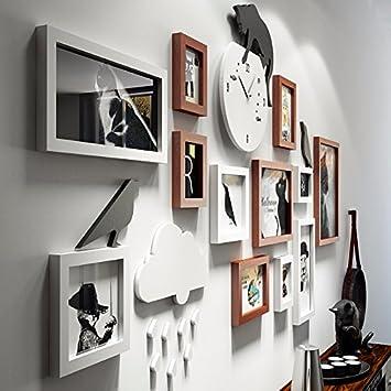 WOneww Foto Wanduhr Hintergrund Wohnwand Bilderrahmen Europäischen Kreative  Produktion Schlafzimmer Wohnzimmer Dekoration Wand