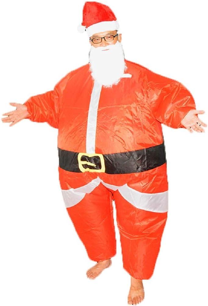yunzhenbusiness Xmas Inflatable Elk Costume Christmas Santa Reindeer-Rider Suit