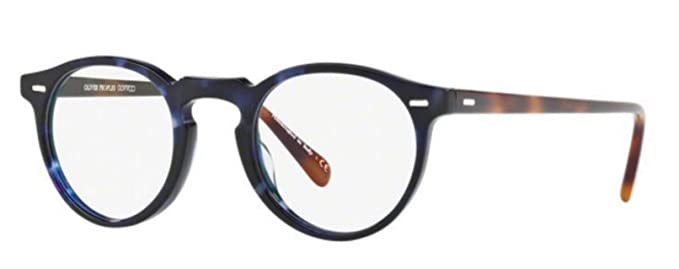 c111e6189e2 Image Unavailable. Image not available for. Color  New Oliver Peoples OV  5186 1569 Gregory Peck Cobalt Tortoise Eye Wear