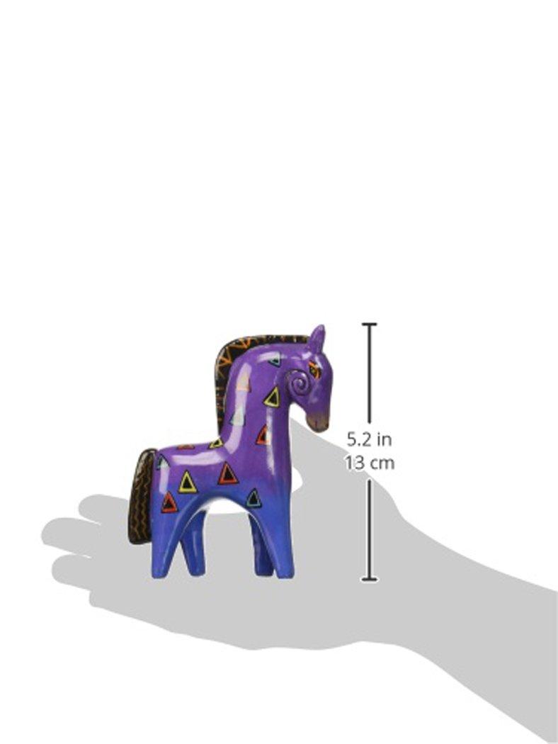 Westland Giftware Ceramic Figurine, Laurel Burch Purple Horse