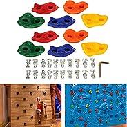 Lixada Pack of 5/10 Rock Climbing Holds Wall Rock Playset Accessories Climbing Stones Kit Set Backyard Kids To