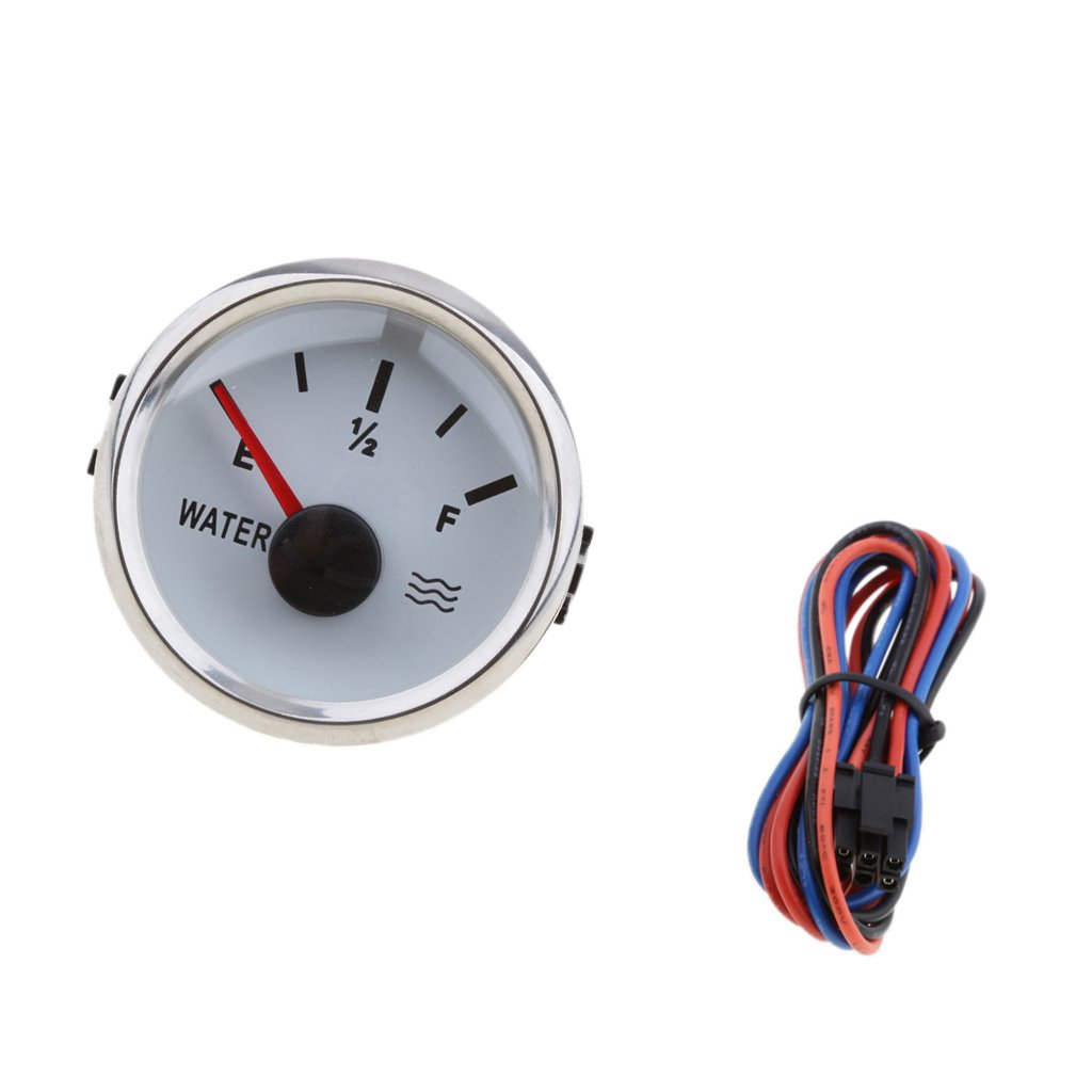 MagiDeal 2' 52mm 100% Waterproof Protection Water Level Gauge for Boat - White non-brand