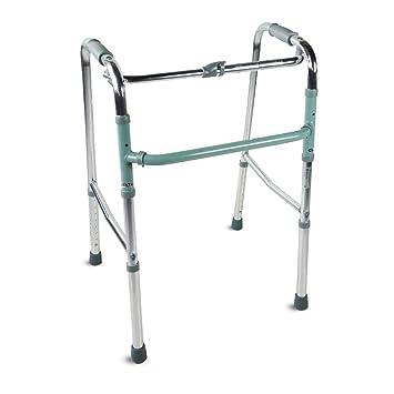 Mobiclinic, Modelo Columna, Andador para adultos, ancianos, mayores o minusvalidos, de aluminio, ligero, plegable, con asiento y sin ruedas, Color ...