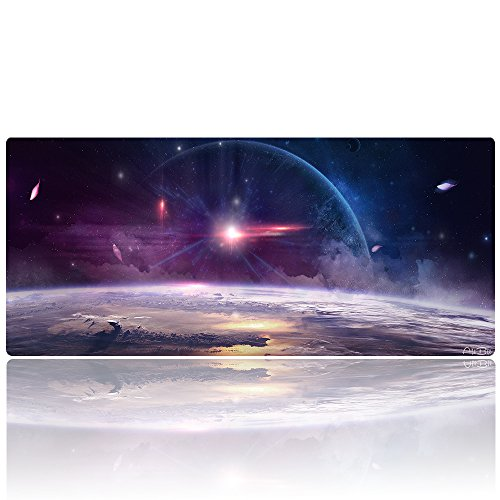 "AliBli Large Gaming Mouse Pad XXL Extended Mat Desk Pad Mousepad Long Non-Slip Rubber Mice Pads Stitched Edges 35.4""x15.7"" (013yinhexi)"