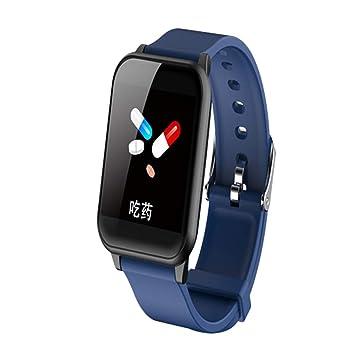 F Fityle Pulsera de Actividad Inteligente Impermeable Reloj Deportiva con Pulsómetro Monitor de Sueño Unisex para Android iOS - Azul Oscuro: Amazon.es: ...