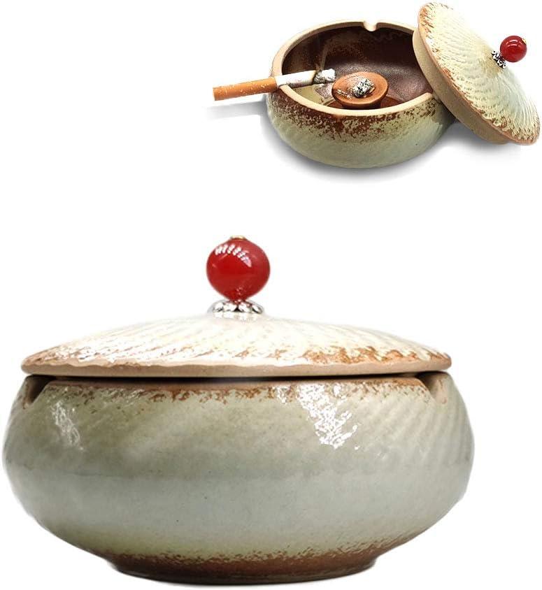 cenicero de cerámica, cenicero con Tapa, cenicero a Prueba de Viento, cenicero de Estilo Chino, cenicero de Puros, para la decoración del hogar y la Oficina.: Amazon.es: Equipaje