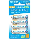 TOSHIBA ニッケル水素電池 充電式IMPULSE スタンダードタイプ 単3形充電池(min.1,900mAh) 4本 TNH-3ME4P