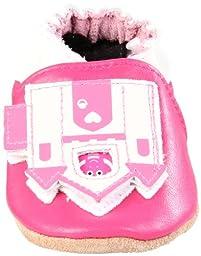 Robeez Soft Soles Peek A Roo Castle Slip On (Infant/Toddler),Hot Pink,0-6 Months (1-2 M US Infant)