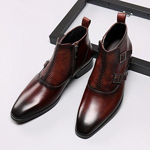 a33843eb7589 Herren Lederschuhe Herren Lederschuhe High-Top-Schuhe britischen Stil wies kurze  Martin Stiefel Herrenschuhe ...