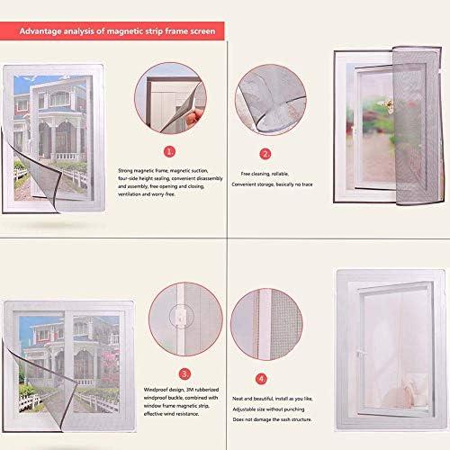 JESU Mosquitera para Ventana Corredera Invisible Cortina a Vela para Ventana, Fácil de Instalar Sin PunzóN,Gris,100x165cm(39x65inch): Amazon.es: Hogar
