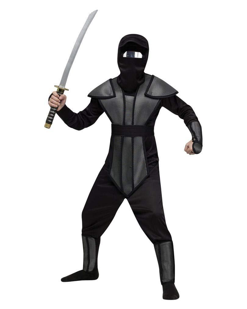 Horror-Shop Ninja reflector Kinderkostüm L: Amazon.es ...