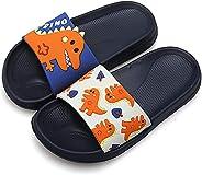 FolHaoth Little Kids Toddlers Sandals Boys Girls EVA Slides Sandals Cute Dinosaur Non-Slip Shower Sandals Slip