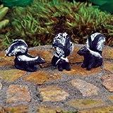 The Fiddlehead Fairy Garden Miniature Skunks (Set of 3) #16866