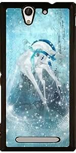Funda para Sony Xperia C3 - Unicornio Del Copo De Nieve by Gatterwe