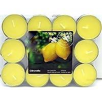 Juego de 24 velas aromáticas de citronela,